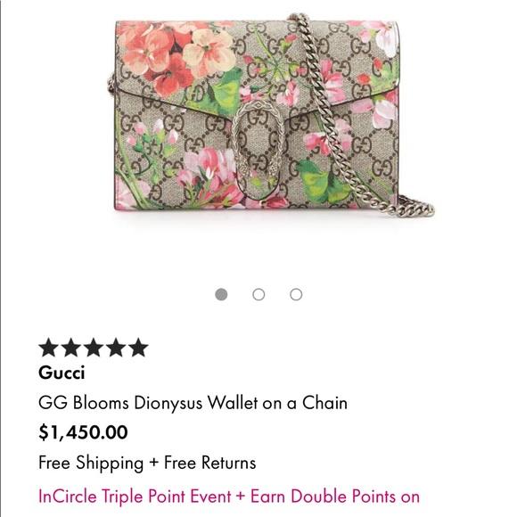 Gucci Handbags - Gucci Blooms Dionysus Wallet w/ Chain